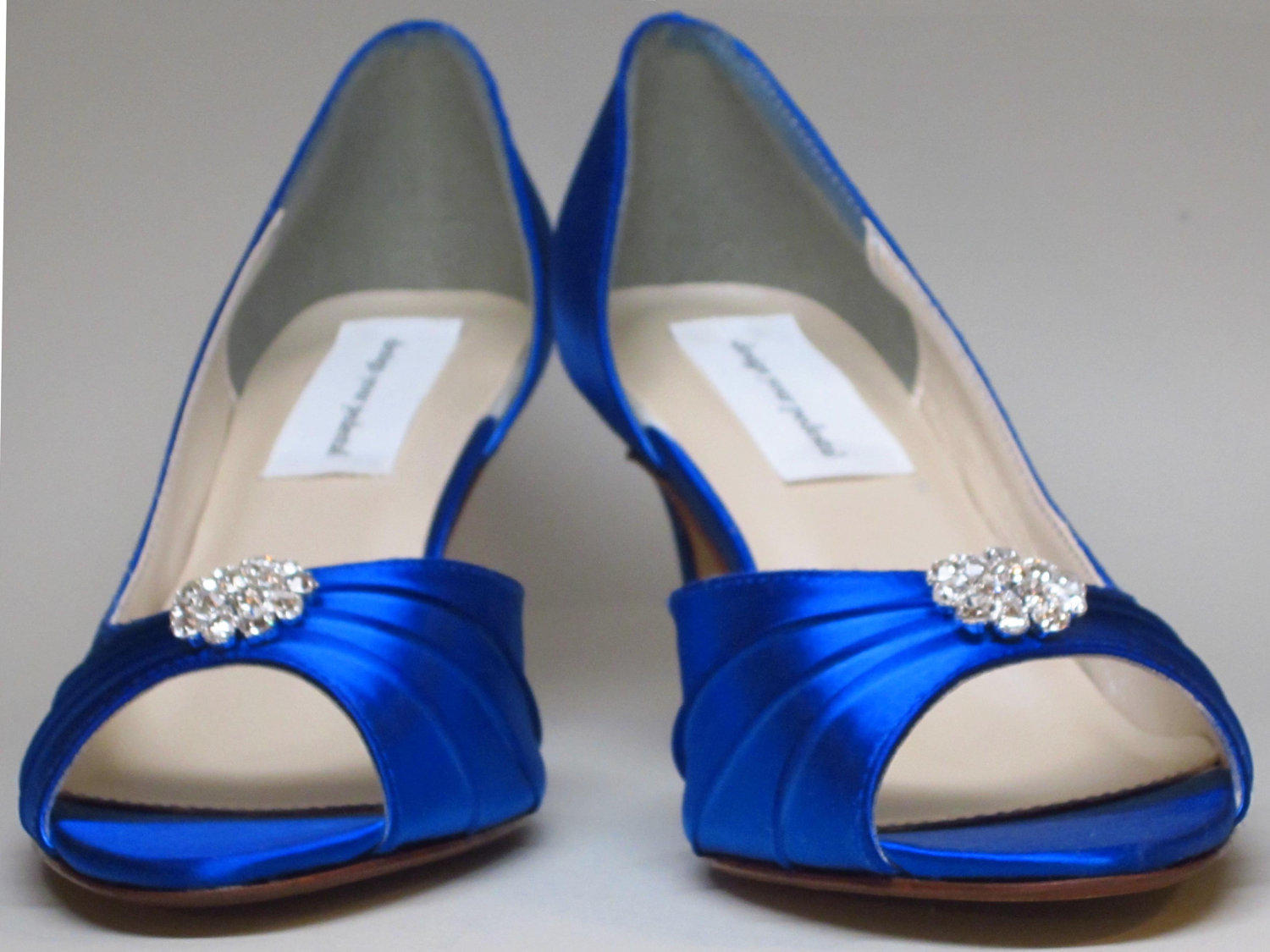 Royal Blue Low Heel Shoes a3EEL5ef
