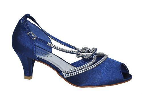 Royal Blue Low Heel Shoes aY3FErlf