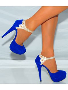 Royal Blue Shoes Heels LvTppWKh