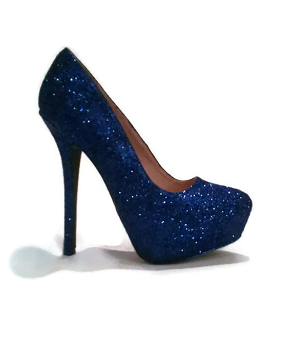 Royal Blue Sparkly Heels VIVMTPWx