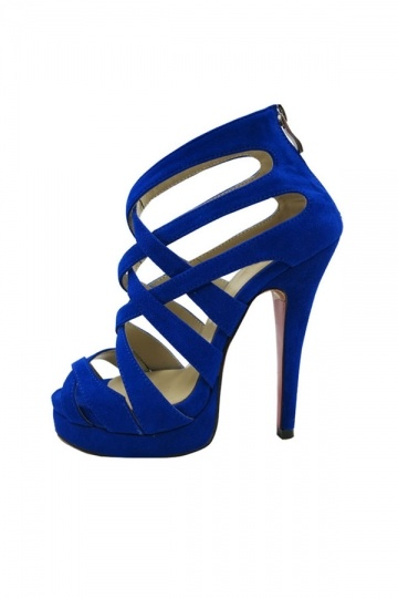 Royal Blue Strappy Heels dC2H1sWn