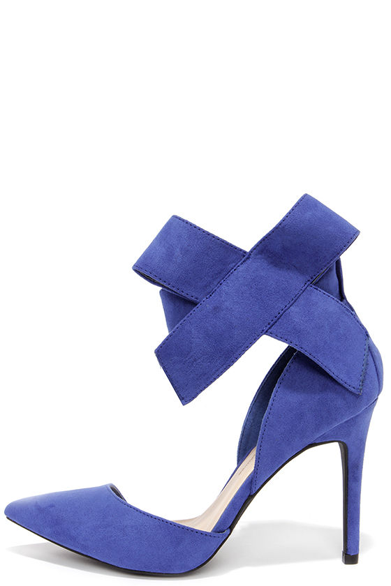 Royal Blue Suede Heels vTyp2ZKx