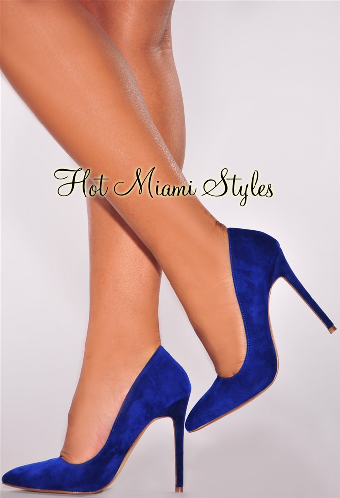 Royal Blue Suede Heels AJV9zPcA