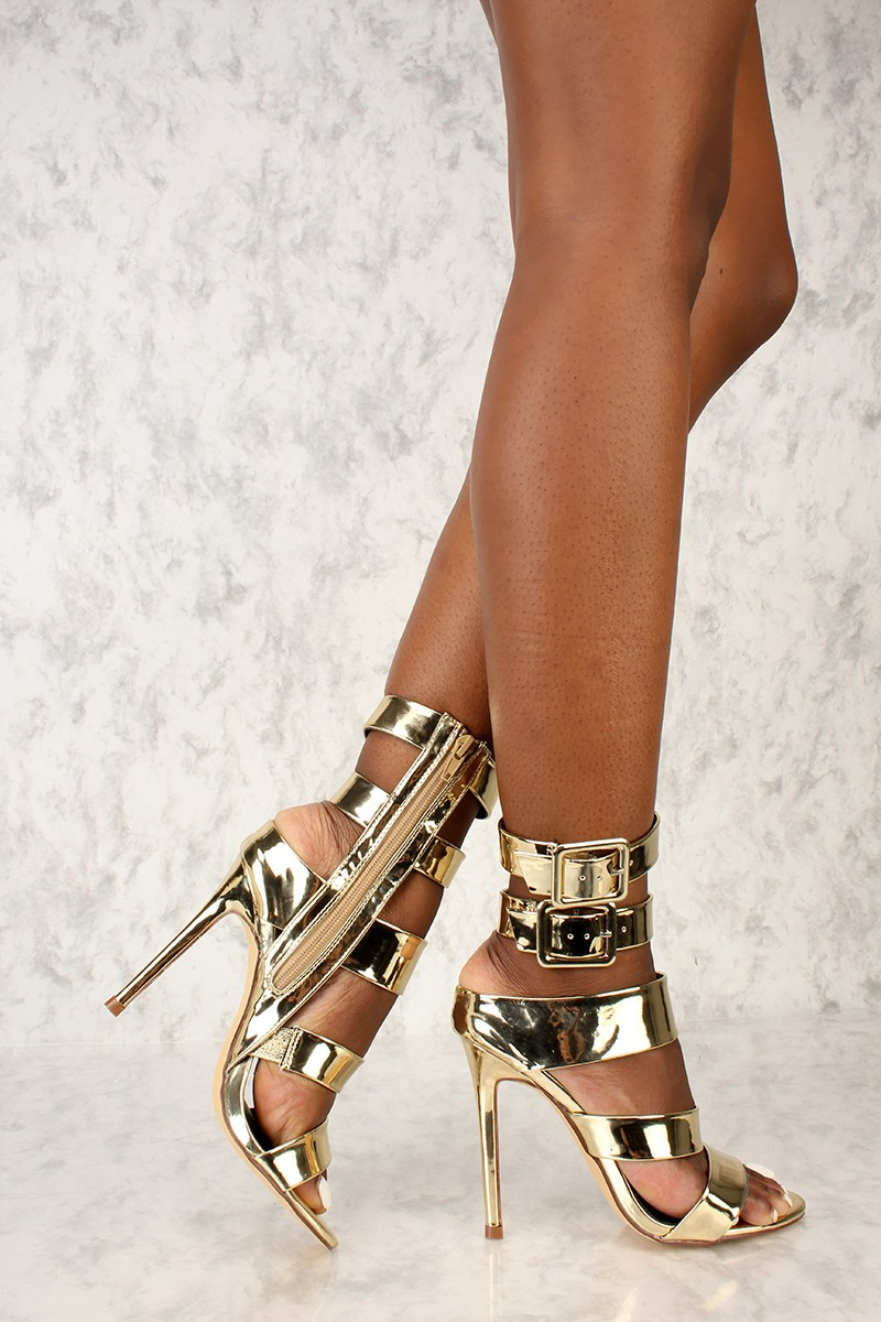 Sexy Gold High Heels DOsaCzwP