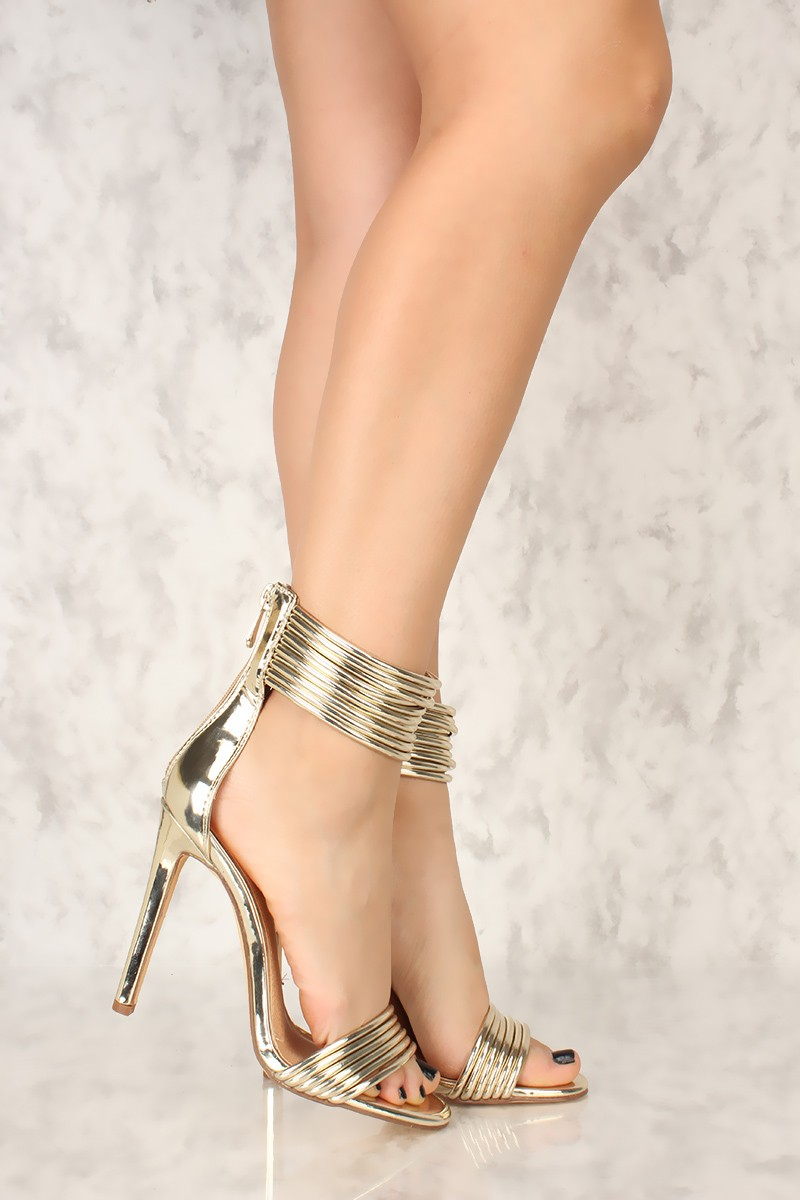 Sexy Gold High Heels dBE3kCVP