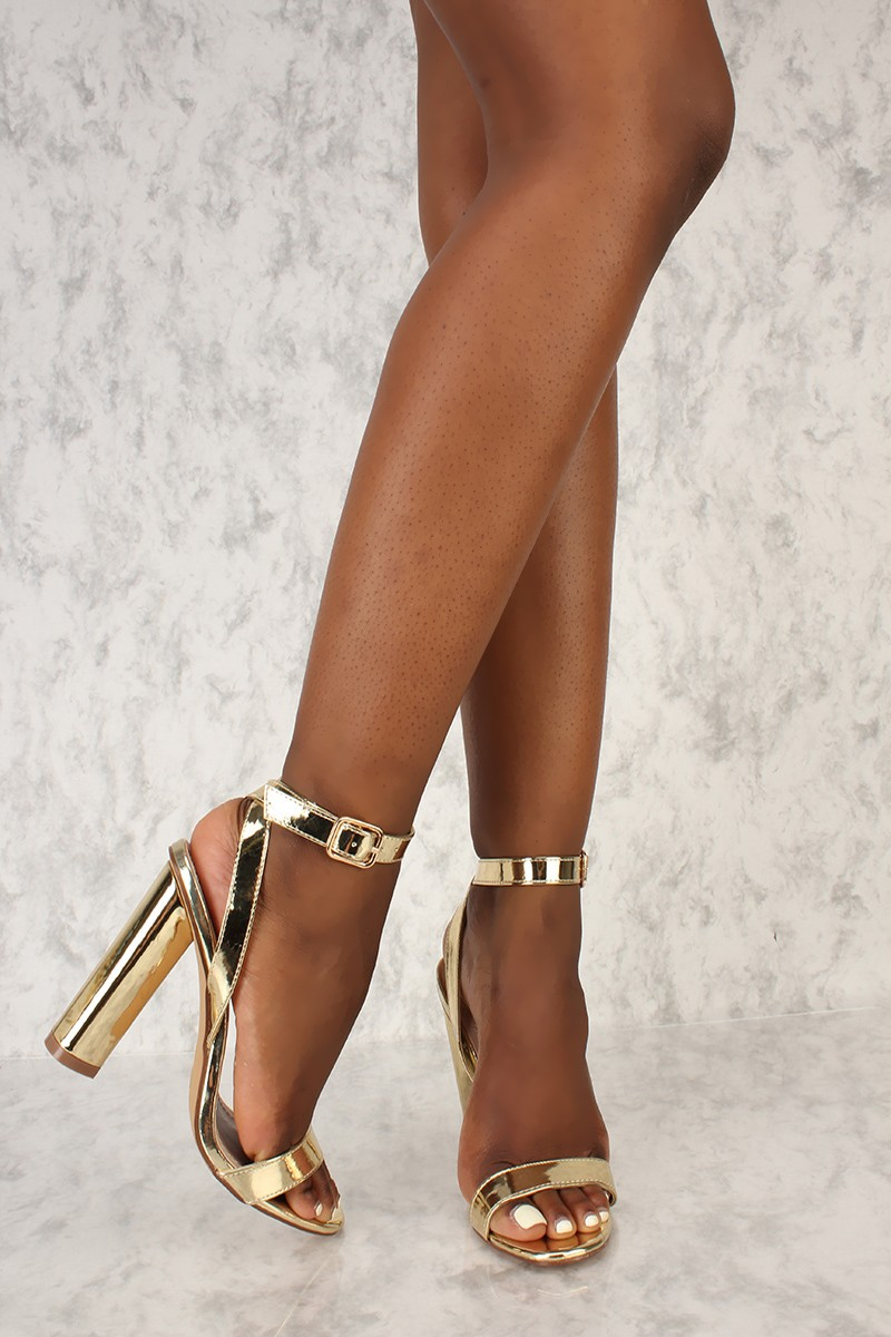 Sexy Gold High Heels 9ajJdagy
