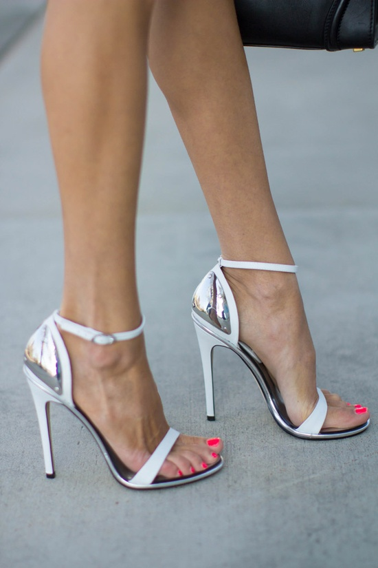 Silver And White Heels zCxOedNF