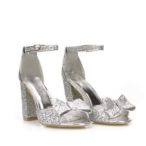 Silver Bow Heels s3bNsZJt