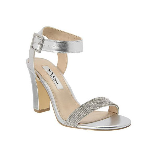 Silver Chunky Heel Shoes RapWev0D