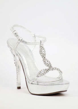 Silver Formal Heels ofCtFtIc