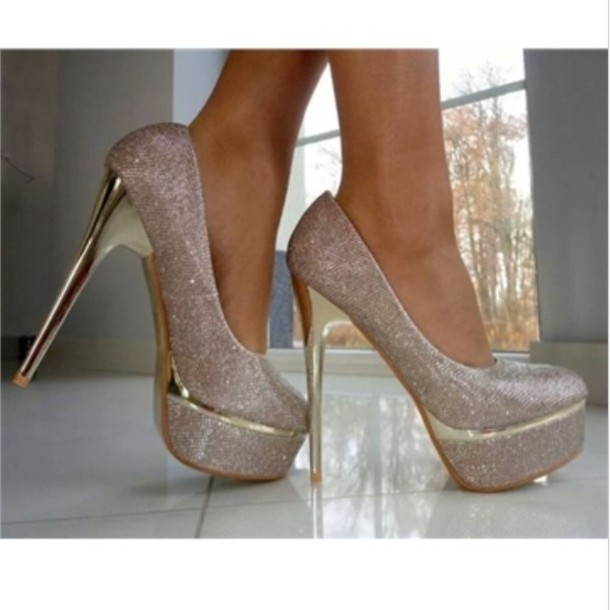 Silver Glitter Heels For Prom rDiAt5XL
