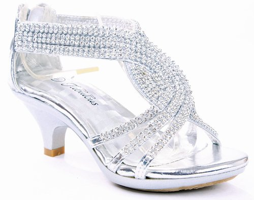 Silver Heels For Girls 9CW8fhgq