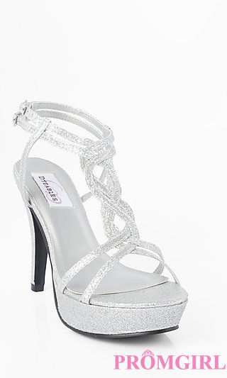 Silver Heels For Prom RT63Yaol