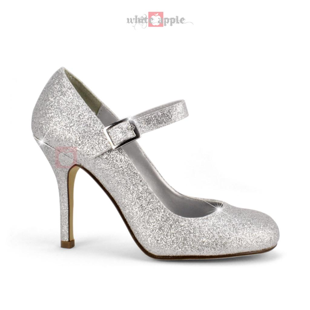 Silver Heels With Ankle Strap mree3OWW