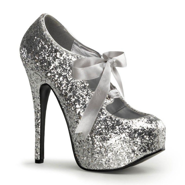 Silver Heels With Bow ymbBdQJS