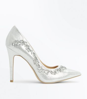 Silver High Heel Shoes pUqIIDqW