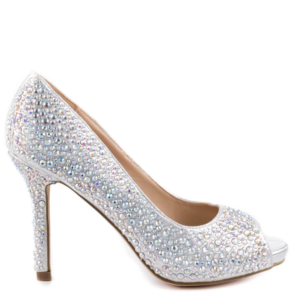 Silver High Heel Shoes FNrNhxQk
