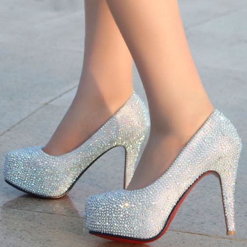 Silver High Heels For Prom Cheap D9QSteQX