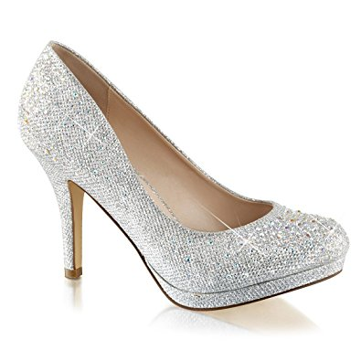 Silver High Heels With Rhinestones LvZd6vpV