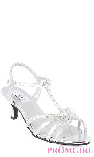 Silver Low Heel Prom Shoes i5O8E5gT