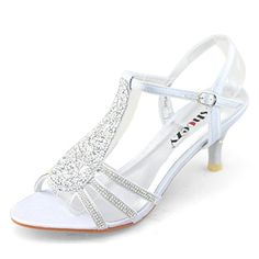 Silver Low Heel Prom Shoes 9T5a7R3n