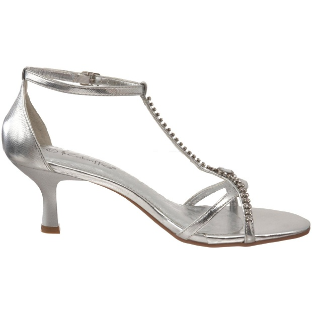 Silver Low Heel Prom Shoes 72SSY7zR