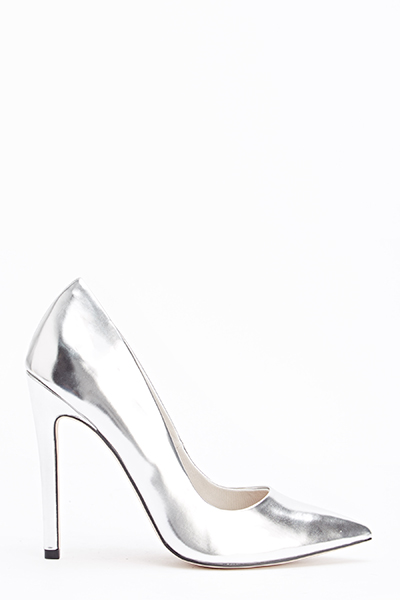 Silver Pointed Heels beBtW7YT