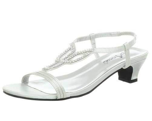 Silver Prom Shoes Low Heel gl6PQ9wF