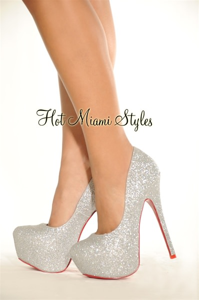 Silver Pump High Heels w0Zt18Qm
