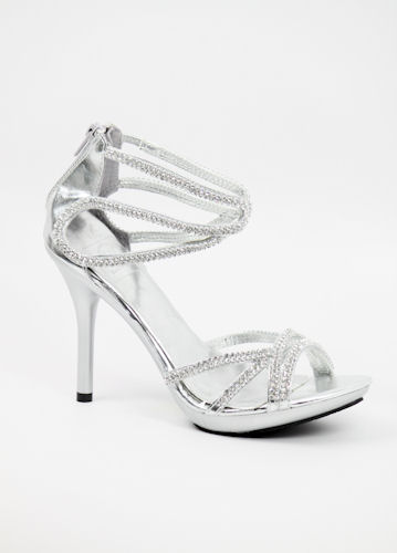 Silver Sandal Heels For Prom ExkA9qYJ