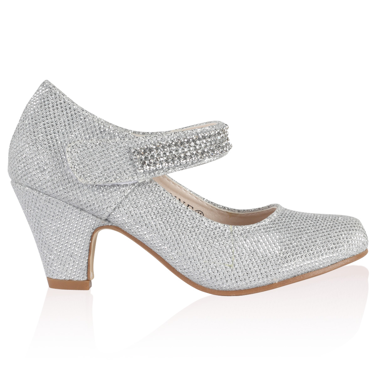 Silver Sparkly Low Heels zng7IFcQ