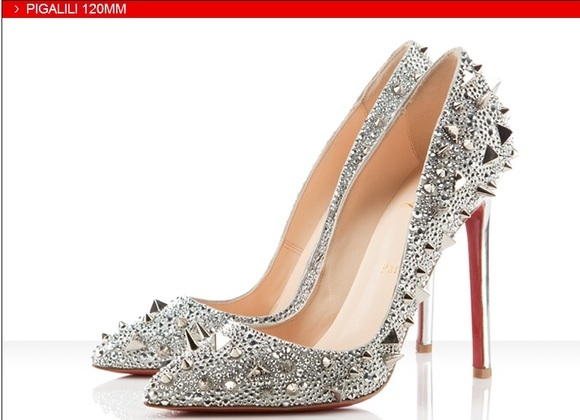 Silver Spiked Heels qtIoN2rO