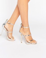 Silver Strappy Heels 6a4nhfMP