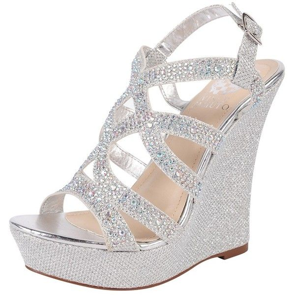 Silver Wedge Heel Shoes DpXGcSUK