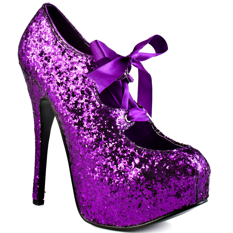 Sparkly Purple Heels 0rLTFWd5