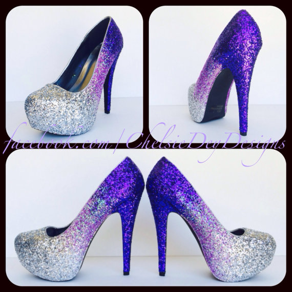 Sparkly Purple Heels bzs4T1ul