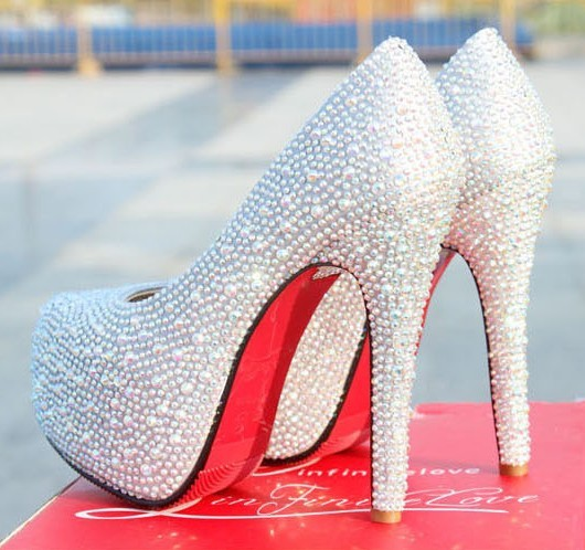 Sparkly Silver Heels For Prom 02O10Pum