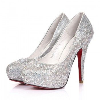 Sparkly Silver Heels For Prom mOuHEnpe