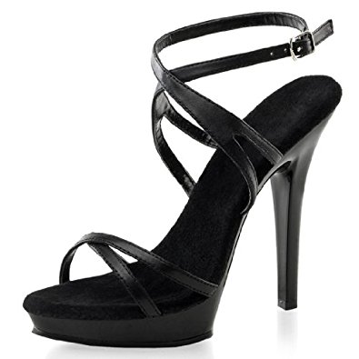 Strappy Black Sandals Heels aJWjUXS3