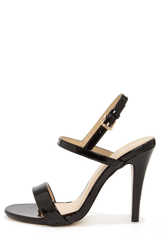 Strappy Black Sandals Heels gxBIp7uc