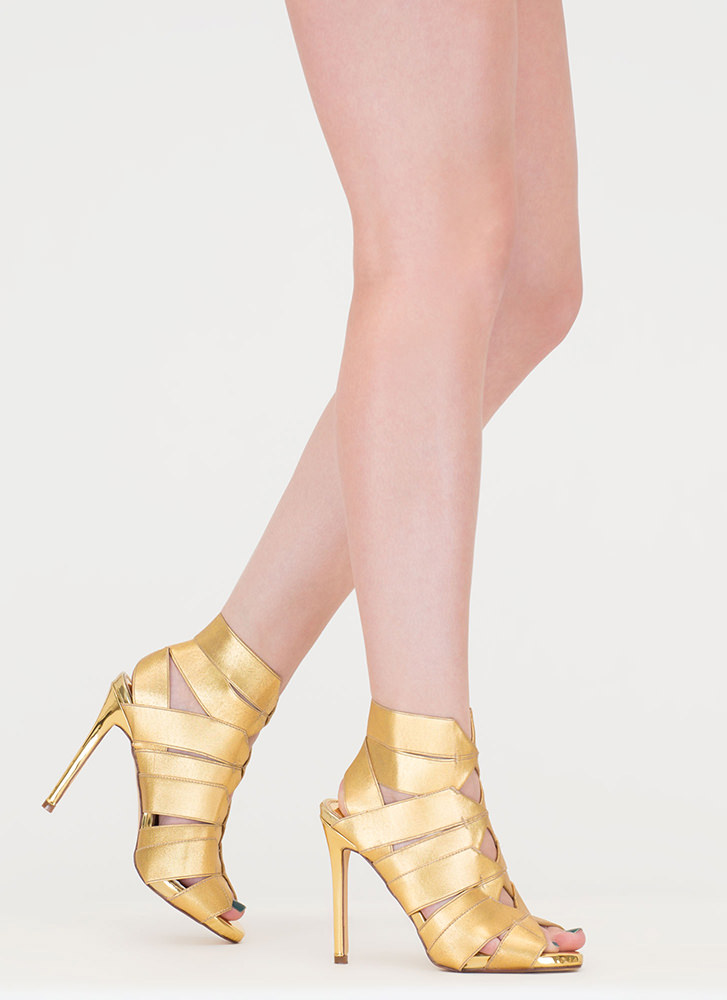 Strappy Caged Heels AO6KBaQs