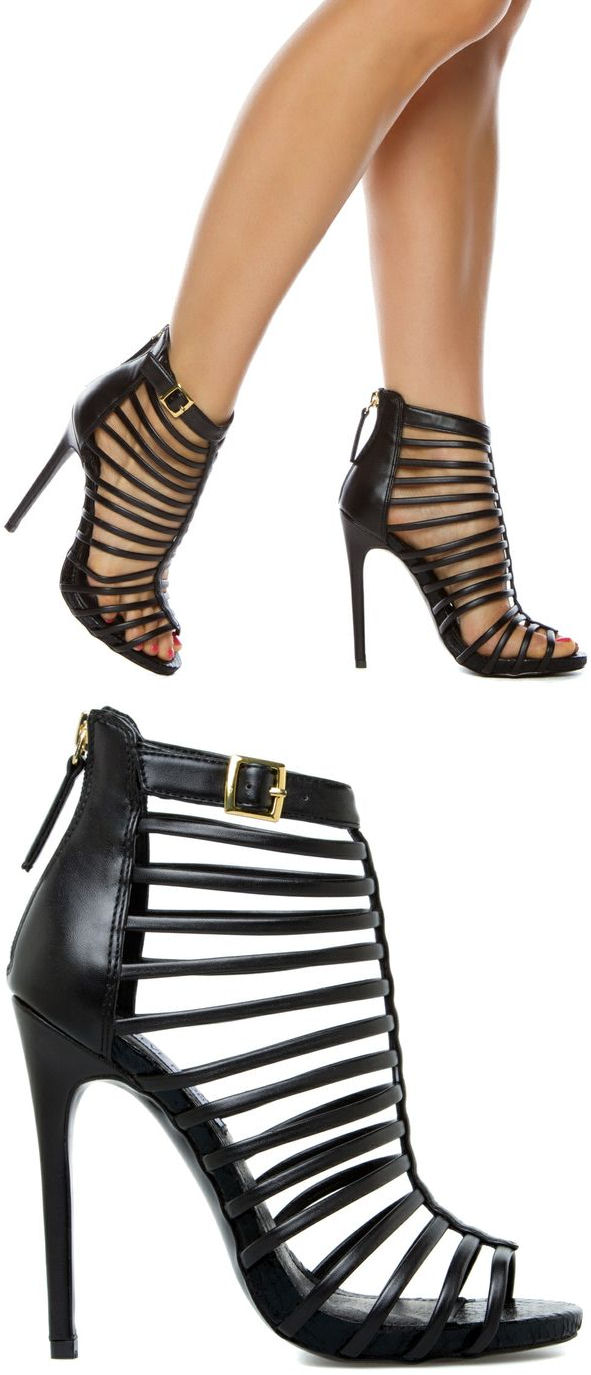 Strappy Caged Heels 97JfajPw