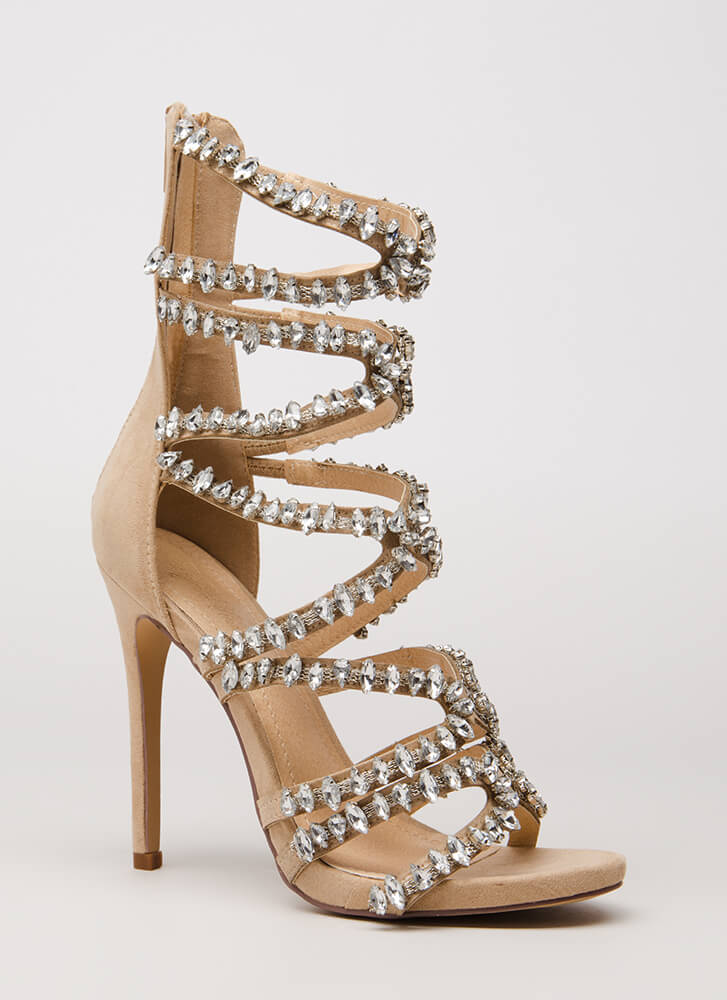 Strappy Caged Heels 5baSBAhl