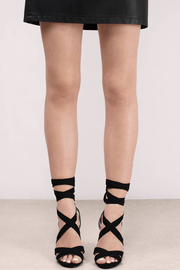 Strappy Lace Up Heels wo2MC6X2