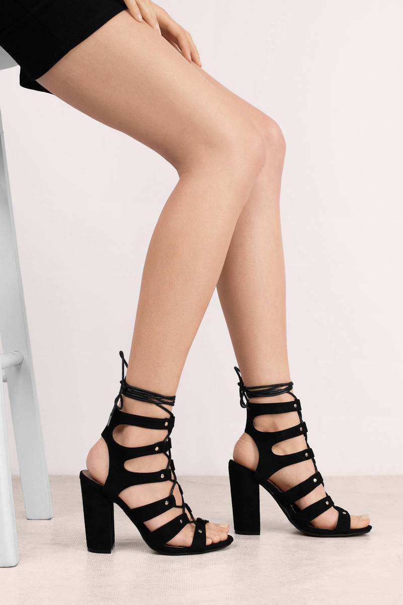 Strappy Lace Up Heels TTTY3tLM