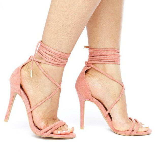 Strappy Pink Heels qwJt7Vpu