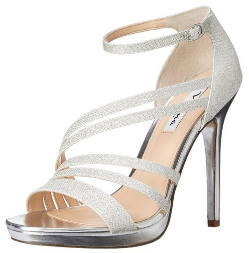 Strappy Silver Heels For Wedding rkma4LMN