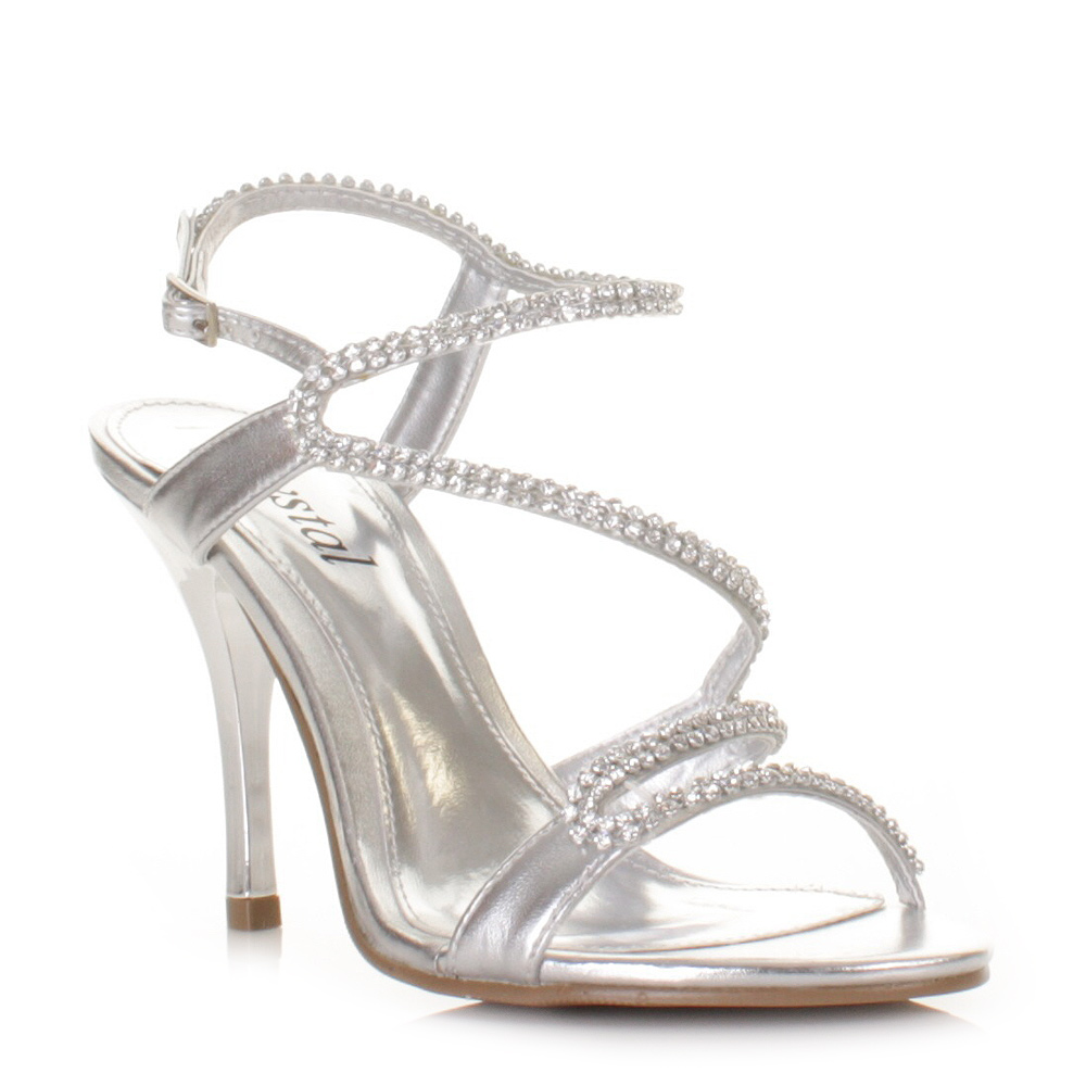 Strappy Silver Heels For Wedding w5AbDaTt