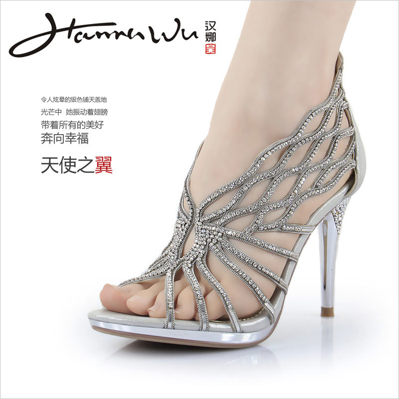 Strappy Silver Heels For Wedding uPtul0aE