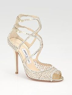 Strappy Wedding Heels BWrwlCol